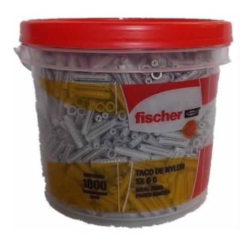 tarugo de expansión fischer s x 6 x 30 mm balde x 1800