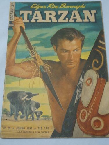 tarzan nº 24 de 1953 lex barker ebal gibi original ótimo