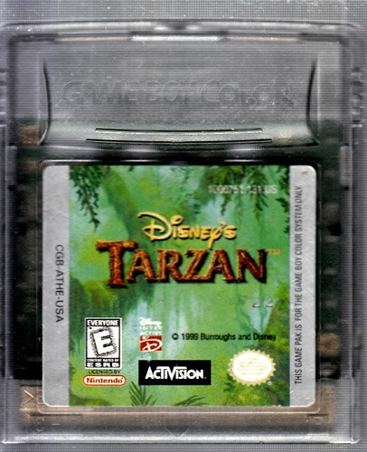 tarzan video juego de original game boy