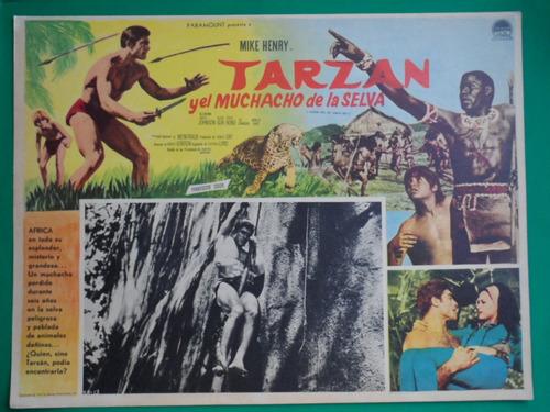 tarzan y el muchacho de la selva mike henry cartel de cine