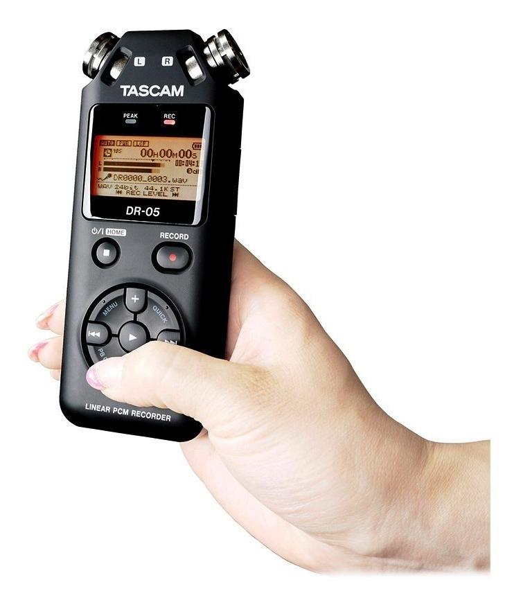Tascam DR-40 96kHz// 24Bit o MP3 hasta 320kBit//s, con 2GB de tarjeta de memoria Grabador est/éreo port/átil