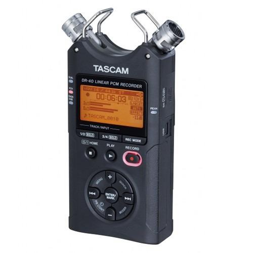 tascam dr40 grabador digital portatil microfonos ajustables