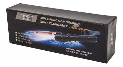 taser electroshock linterna defensa personal stun gun shock