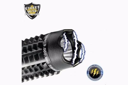 taser tabano linterna paralizador recargable lumen baston