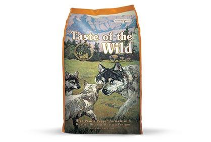taste of the wild - bisonte y venado asado - cachorro - 2 kg
