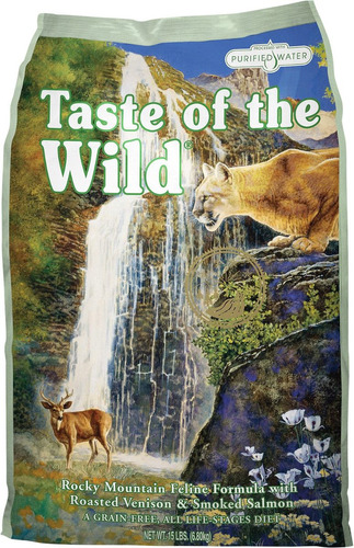 taste of the wild feline venado y salmón adulto 15lb