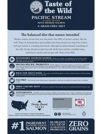 taste of the wild pacific stream adultos salmon 1 kg