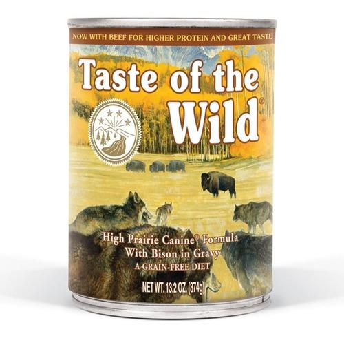 taste of the wild perros high prairie 12 latas 13.2oz