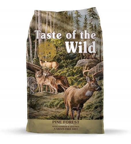 taste of the wild  pine forest  28 lb perros adultos