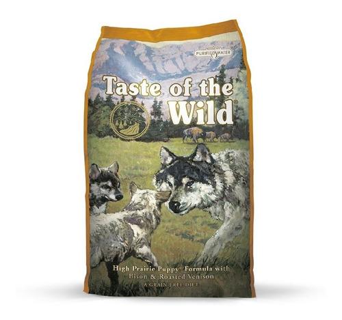 taste of the wild puppy high prairie bisonte y siervo 28lb