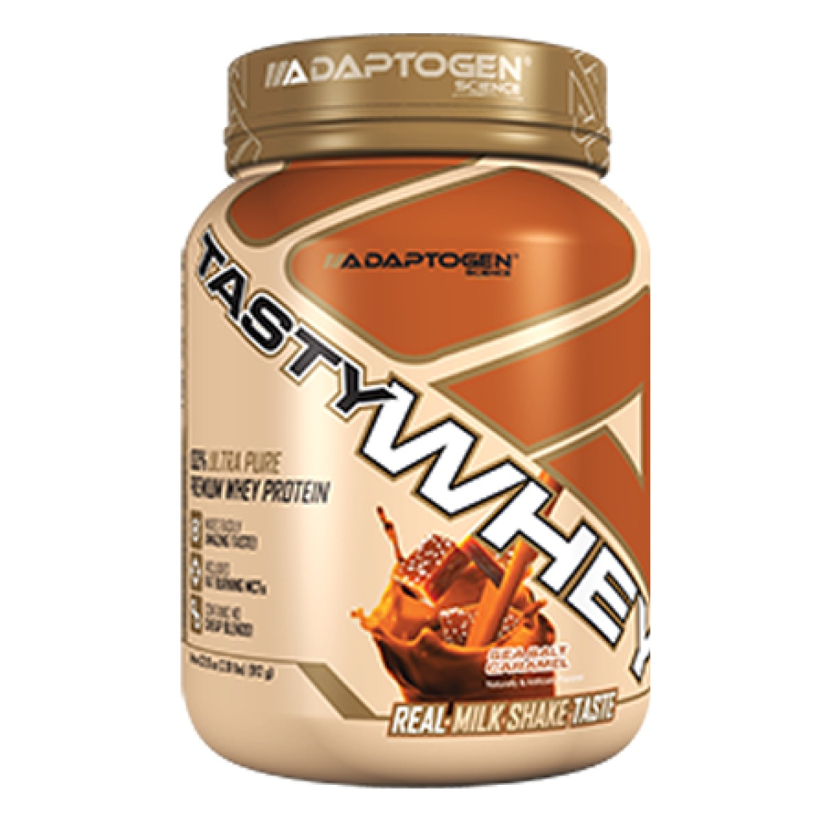 09a74a371 Tasty Whey (908g) Adaptogen Science - Caramelo - R  179