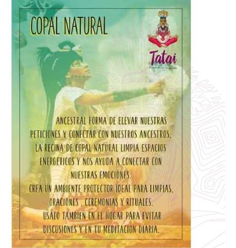 tatai tienda | copal blanco en recina 100% puro 500 grs