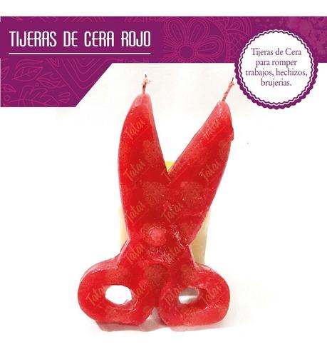 tatai tienda | veladora en forma de tijeras roja