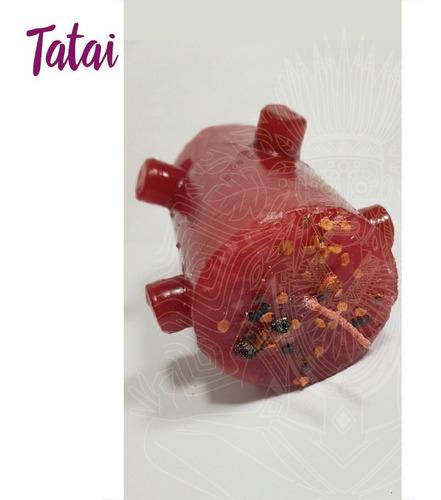 tatai tienda | velón de 7 mechas rojo / bomba de amor