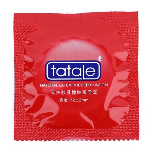 tatale condones 3pcs plátano sabor partículas de látex na