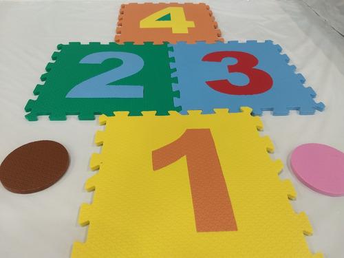 tatame amarelinha eva 12 pçs-placas de 30 cm x 29,8 x 8 mm