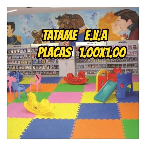 tatame eva placas p/forrar chão kit c/4 de 1.00x1.00+brinde