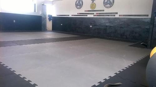 tatame tapete eva 100x100x3cm 30 mm bicolor preto/cinza
