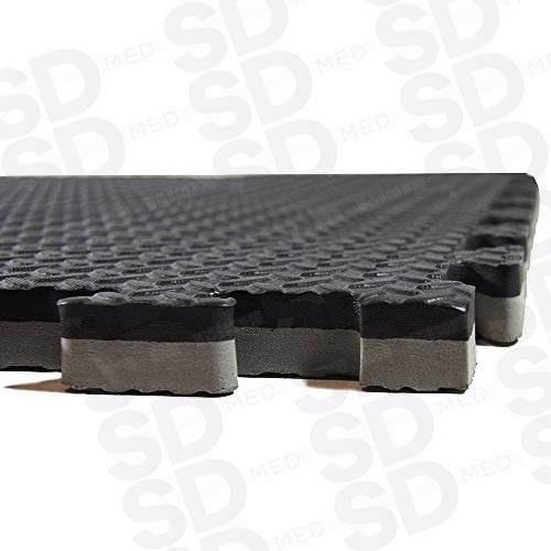 tatami grueso 4 cm  especial negro / gris cm 100 cm x 100 cm