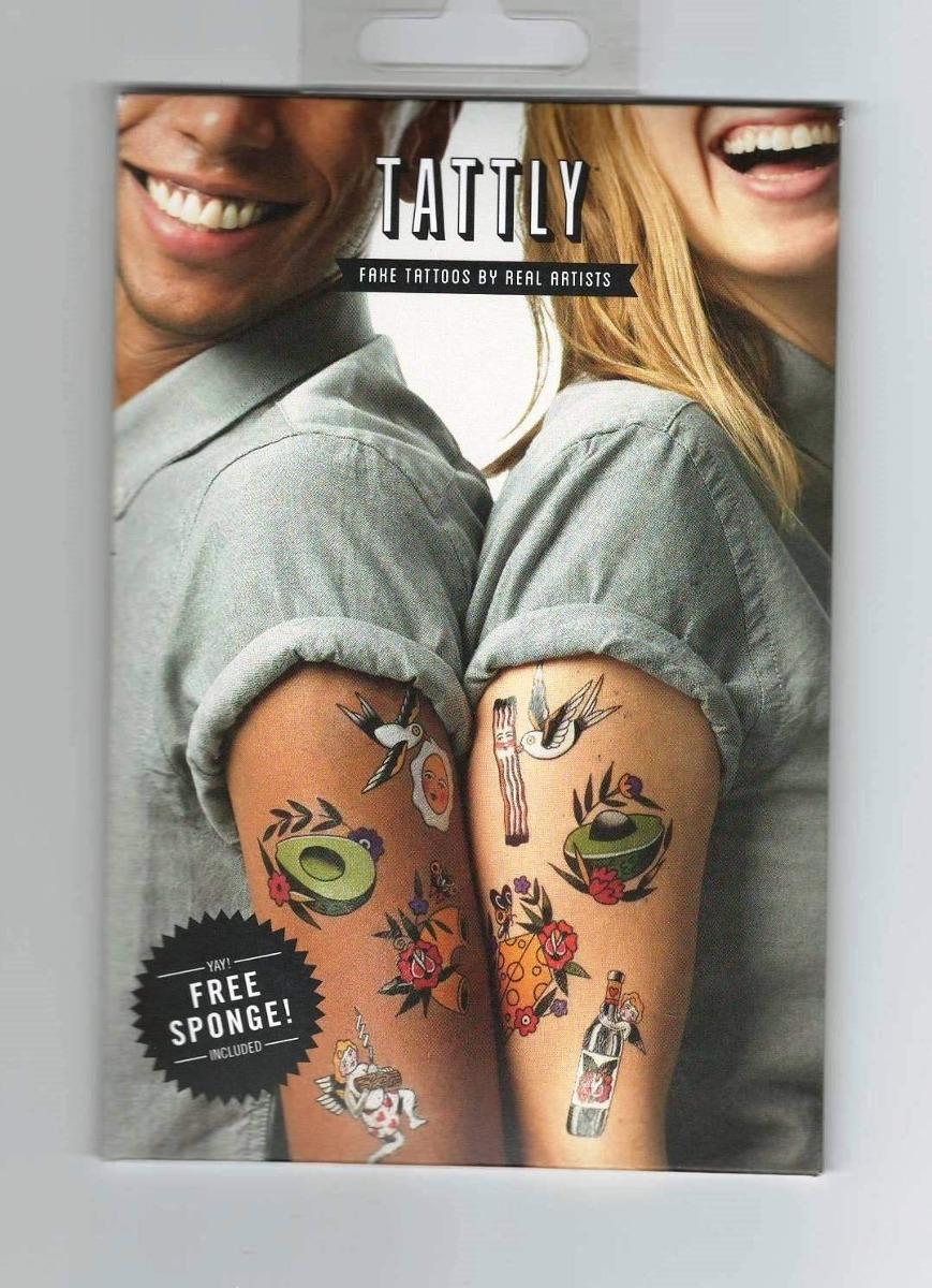 Tattly Cosas Que Van Juntas Tatuaje Temporal Set Tatuajes