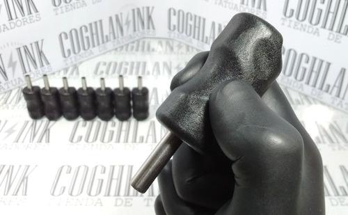 tattoo puntera grip ergonómico polímero 30mm + tip trasero