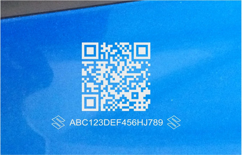tatuado grabado laser  seguridad autopartes y código qr_vip