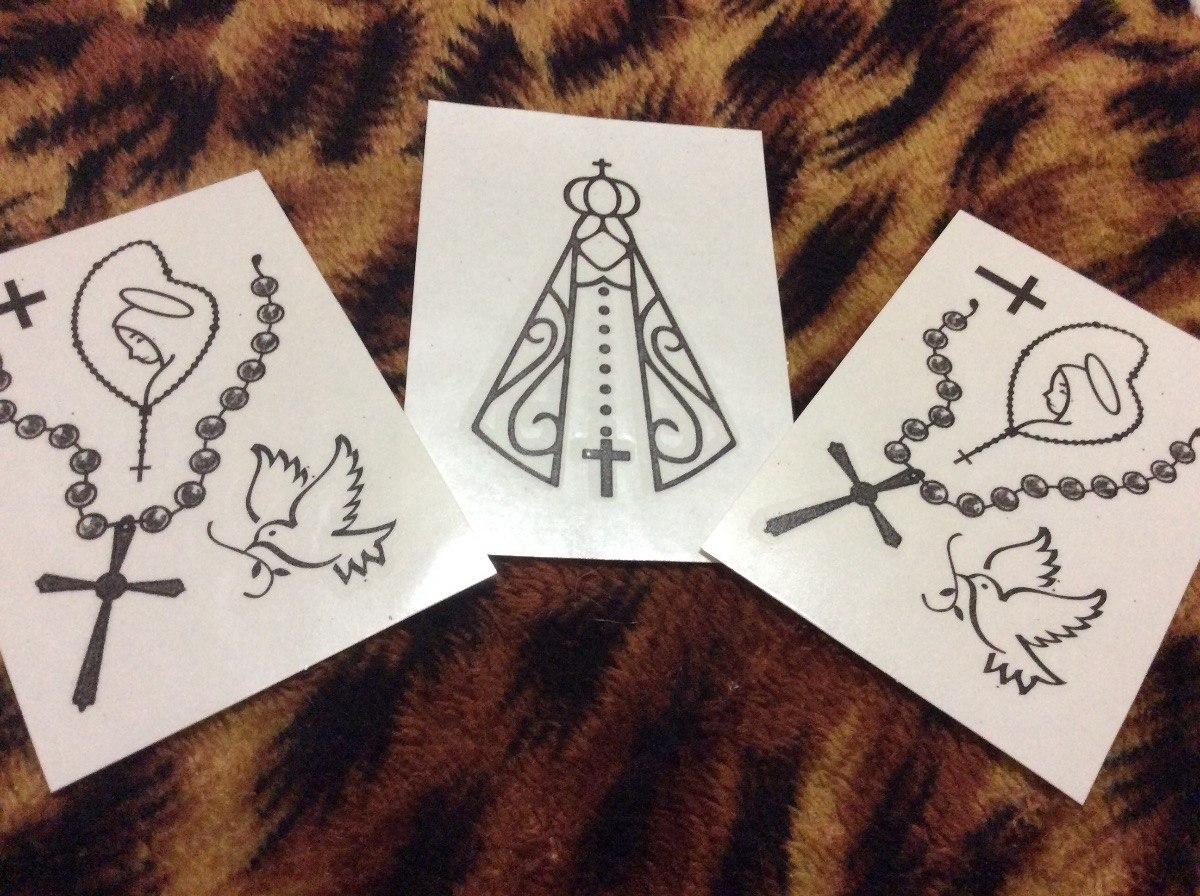 Tatuagem Fake Terço Paz Religioso Católico Frete Grátis