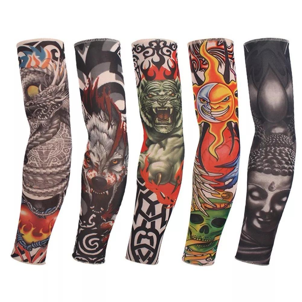 Tatuagem falsa segunda pele fake tattoo sleeve manga - Mangas de tattoo ...
