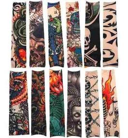 Tatuagem Tattoo Manga De Tecido Braco Ou Perna Unissex
