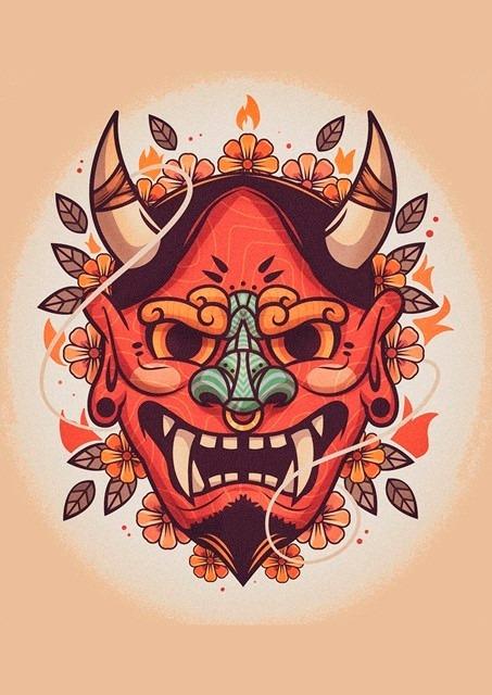 Tatuagem Tattoo Oriental Desenho Placa Decorativa 40x30cm R 35