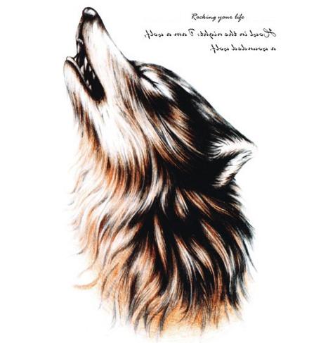 Desenho De Lobo Uivando Mmod