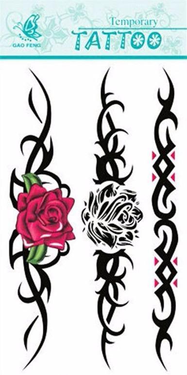 Tatuagem Tribal Temporaria Rena Tattoo Henna Removivel Rosa R 9