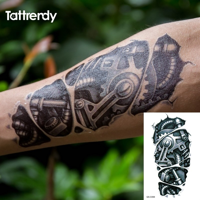 Tatuaje Temporal Antebrazo De Metalilzado - S/ 15,00 en Mercado Libre