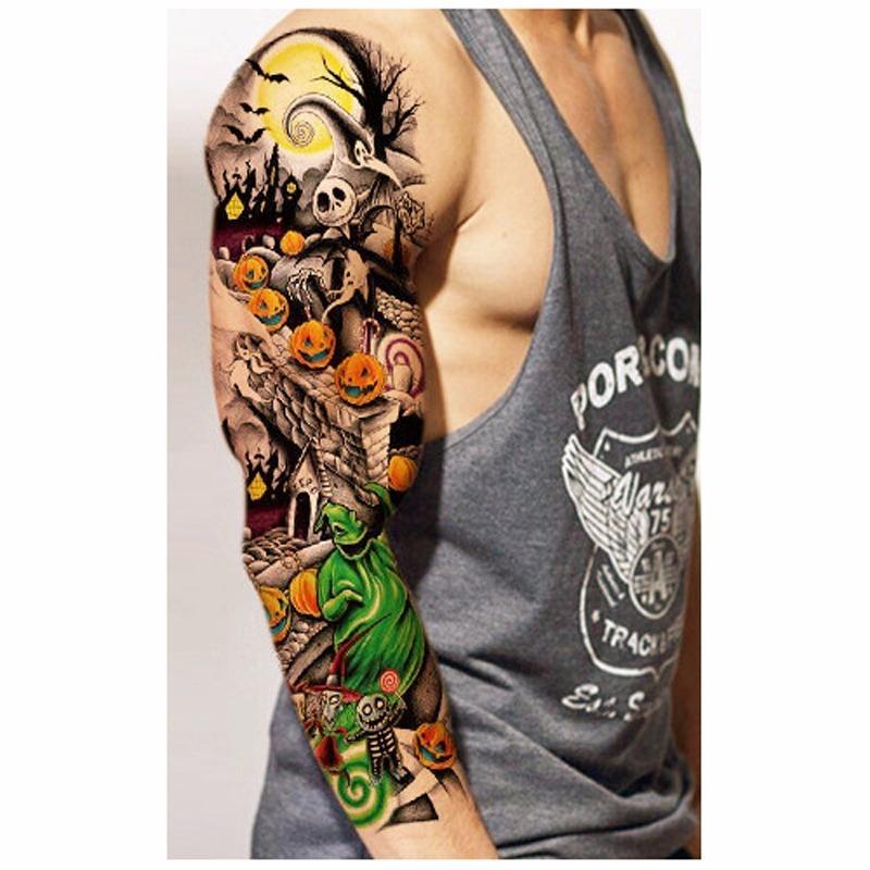 Tatuaje Temporal Brazo Completo S 2000 En Mercado Libre - Tatuajes-brazo