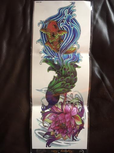 tatuaje temporal brazo completo