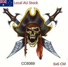 tatuaje temporal calavera pirata brazo hombro espalda pecho
