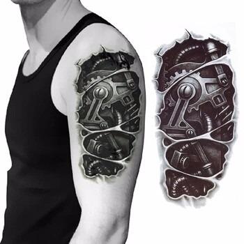 Tatuaje Temporal En Alto Vinilo Engranaje Motocicleta 14900 En