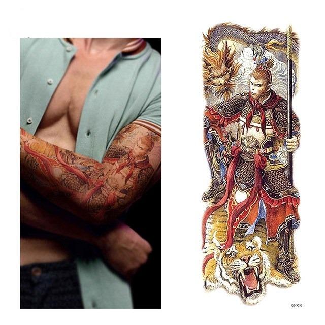 Tatuaje Temporal Manga Brazo 46x17 Cm Hombre Color 30000 En - Brazo-tatuaje