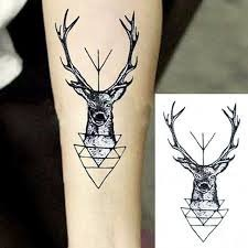 Tatuaje Temporal Venado Alce Antilope Zorra Fox Zorrita S 700 En