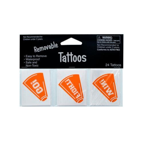 tatuajes extraíbles de humor naranja