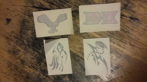 tatuajes removibles 4 piezas.