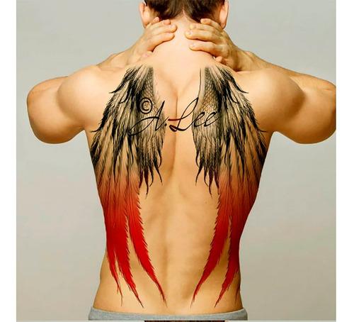 tatuajes temporales alas rojas