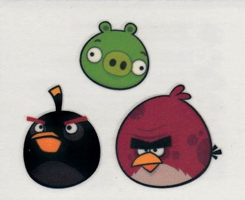 tatuajes temporales angry birds, maa