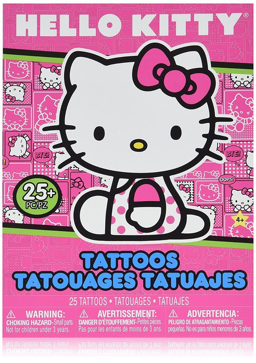 Tatuajes Temporales De Hello Kitty Para Ninos 2 Juegos De - Juegos-de-tatuajes-para-nios