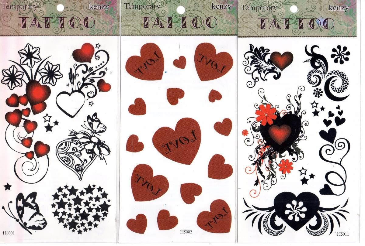 Tatuajes Temporales Mariposas Corazones Flores Calaveras 35