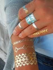 tatuajes temporales metalicos gold tattoos flash tattoos