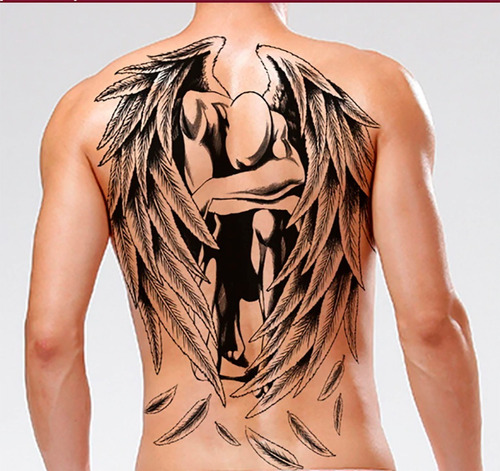 tatuajes temporales modelo angel dark tatuajes