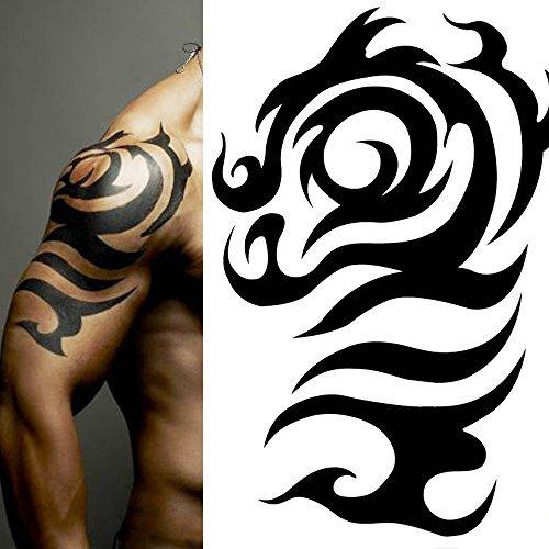 Tatuajes Pegatina tatuajes temporales pegatina grande tótem grande dragón braz