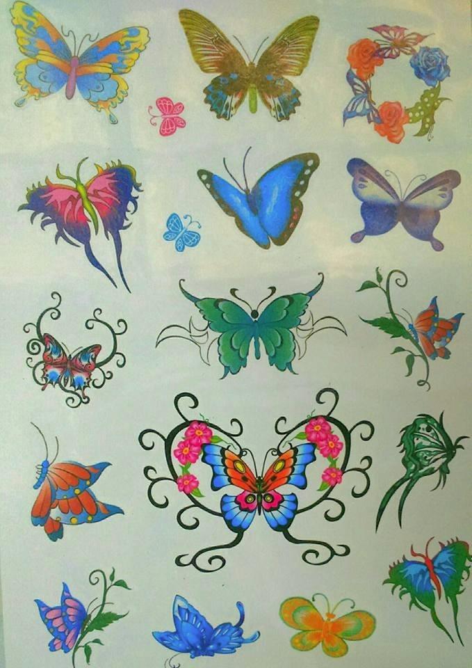 Tatuajes Temporales Tattoos 6 Laminas Block Letra E 34999 En