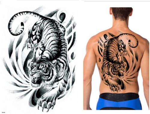 tatuajes temporales tigre de vengala
